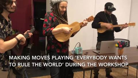 Dulce UpFront Presented Music as Activism workshop with Latin Grammy nominated band Making Movies