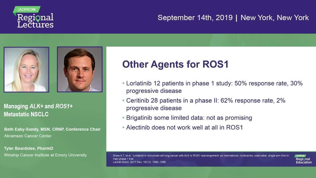 Managing ALK+ and ROS1+ Metastatic NSCLC