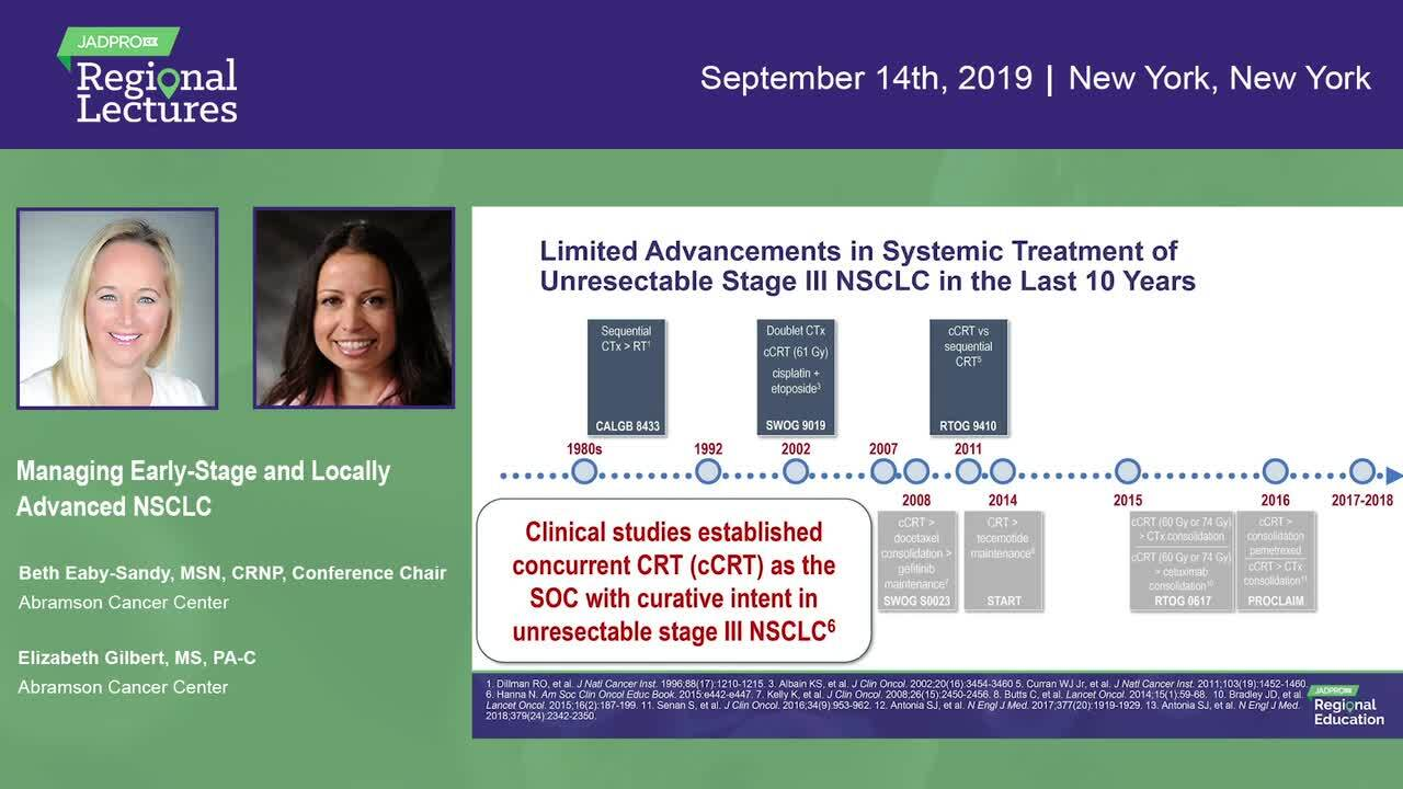 Managing Early-Stage and Locally Advanced NSCLC