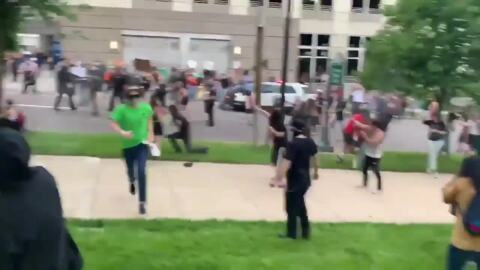 Tear gas and car attacks: Chaos at George Floyd demonstration in Denver