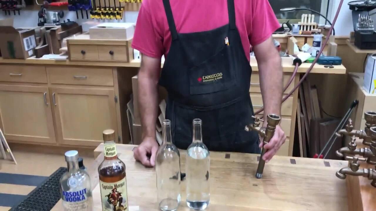Dispensing spirits into the liquor tap | WOOD Magazine