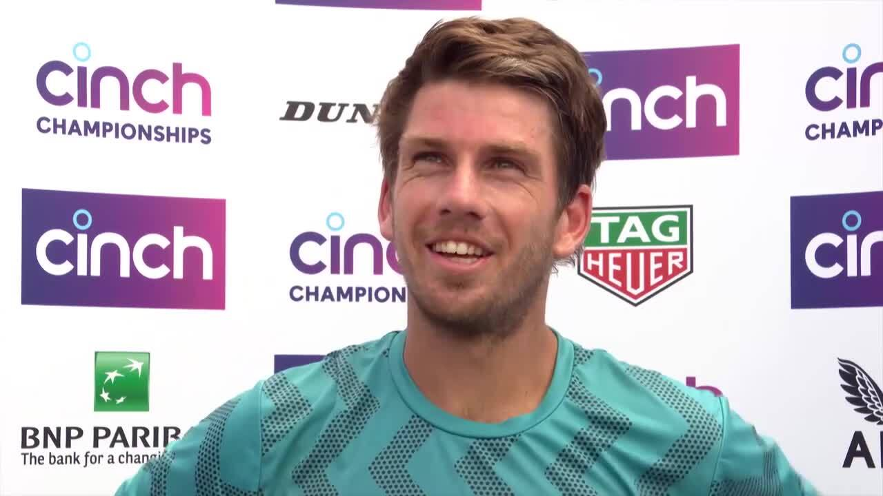 Norrie At Queen's Club: 'It's Very Cool To Be Back Out Here'