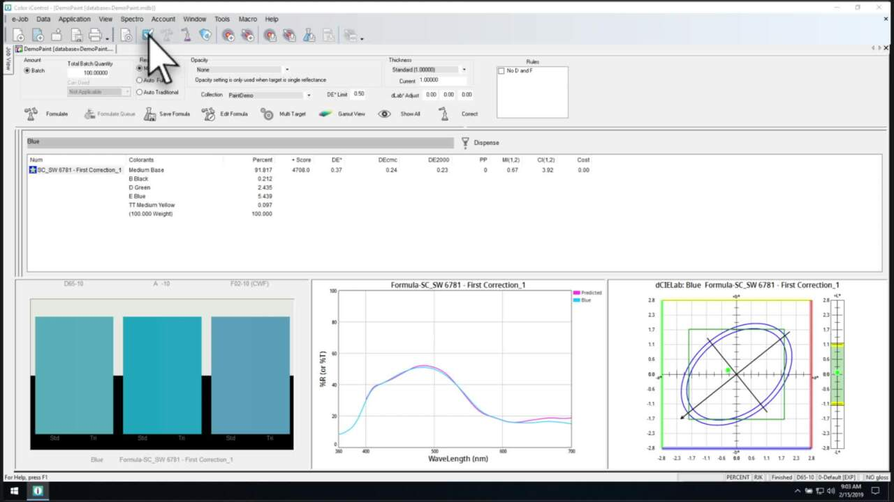 Color iMatch Formulation and Quality Control Software | X-Rite