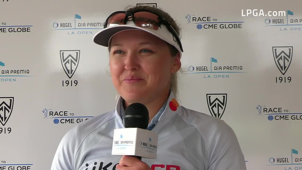 Brooke Henderson Second Round Interview at the 2021 HUGEL-AIR PREMIA LA Open