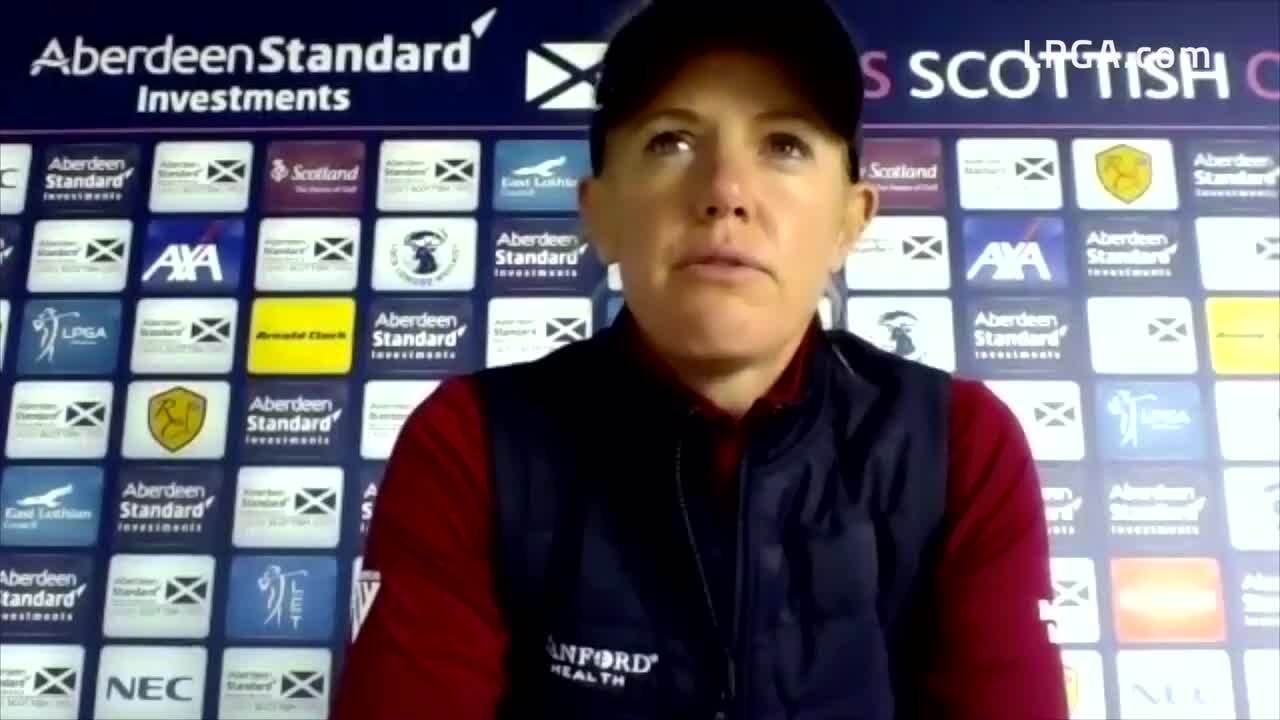 Amy Olson Second Round Interview at the Ladies Scottish Open