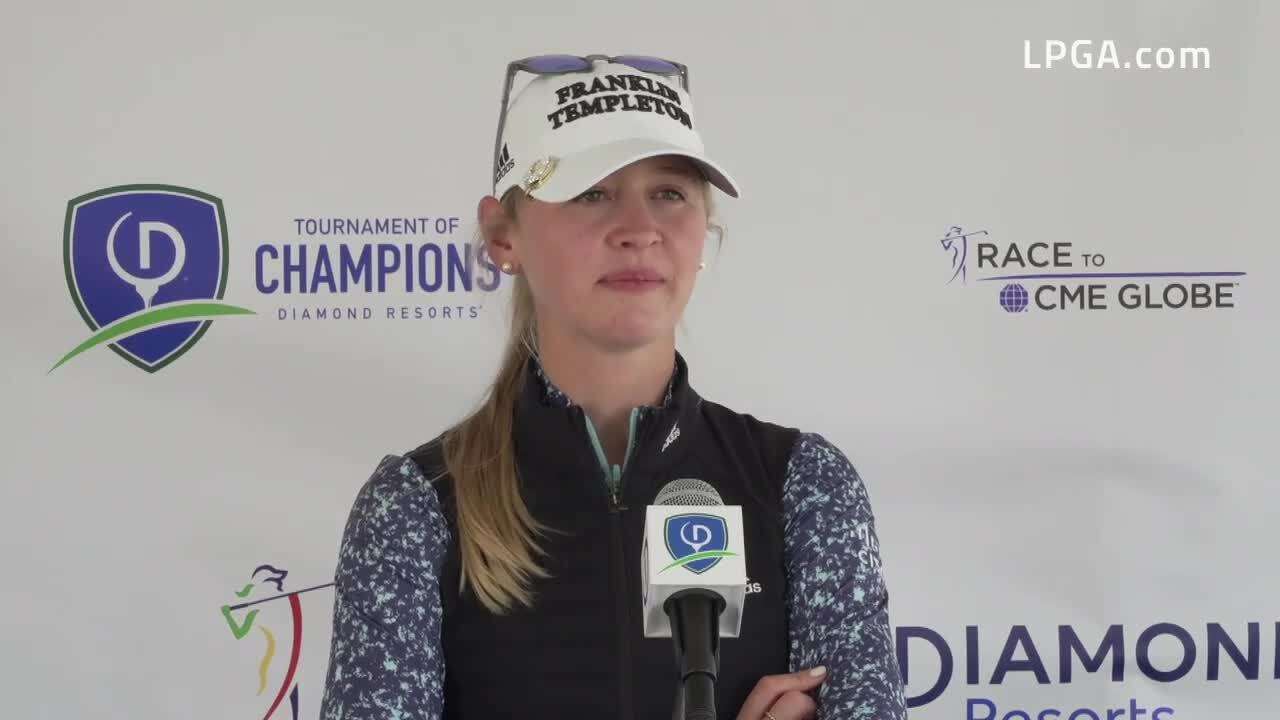 Jessica Korda Opening Round Interview at the 2021 Diamond Resorts Tournament of Champions