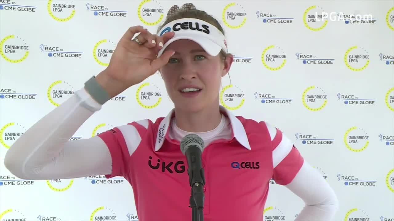Nelly Korda Final Interview at the 2021 Gainbridge LPGA