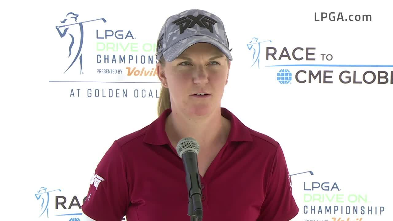 Austin Ernst Opening Round Interview at the 2021 LPGA Drive On Championship presented by Volvik