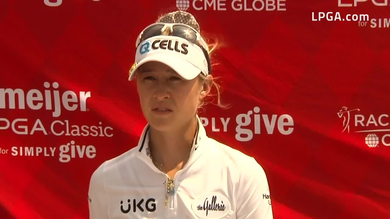 Nelly Korda Second Round Interview at the 2021 Meijer LPGA Classic