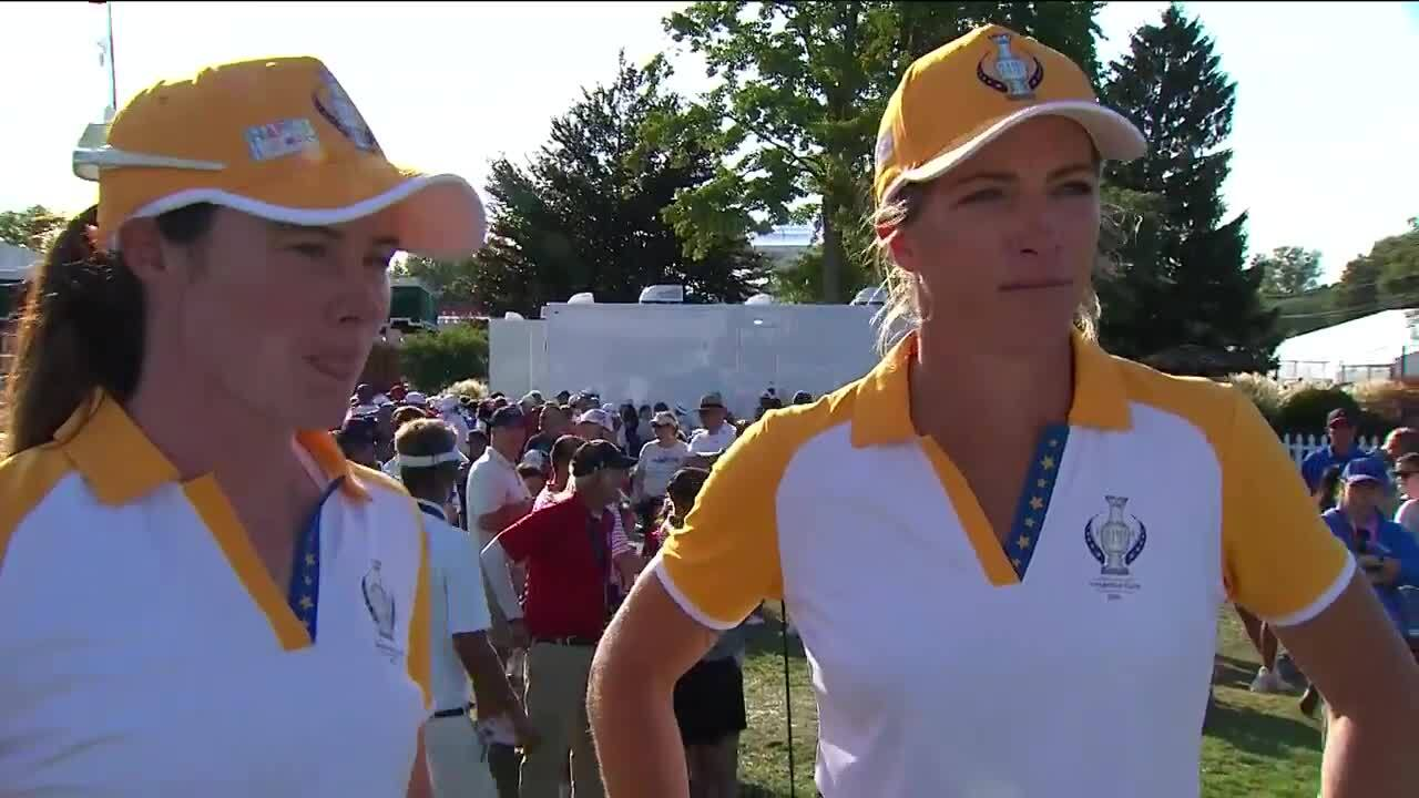 Mel Reid and Leona Maguire Day 3 Interview at the 2021 Solheim Cup