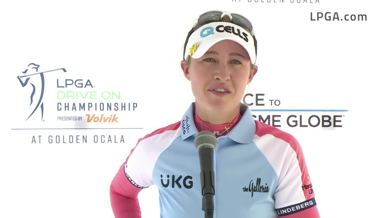 Nelly Korda Opening Round Interview at the 2021 LPGA Drive On Championship presented by Volvik
