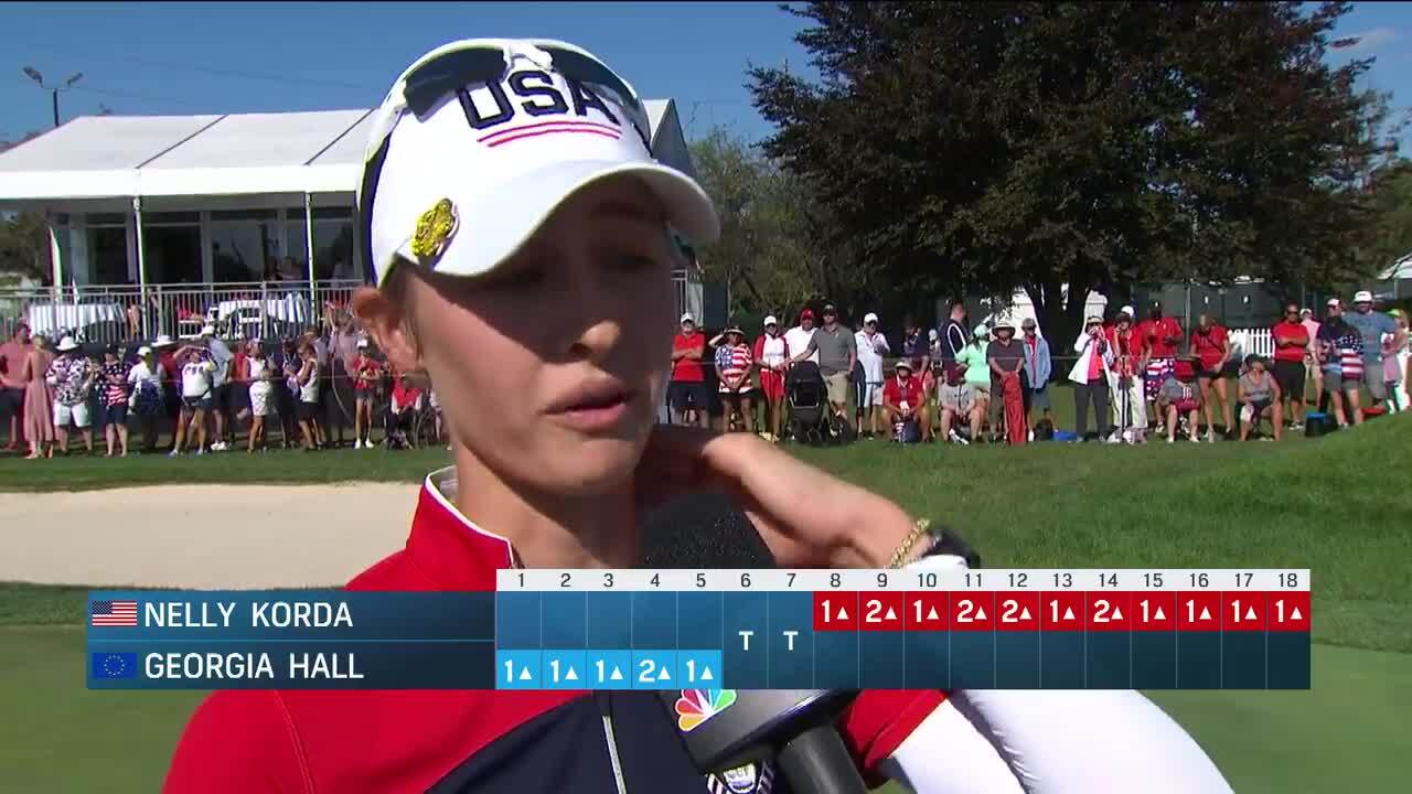 Nelly Korda Day 3 Interview at the 2021 Solheim Cup
