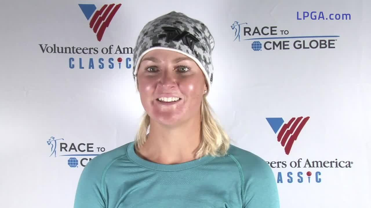 Anna Nordqvist Second Round Interview at the Volunteers of America Classic