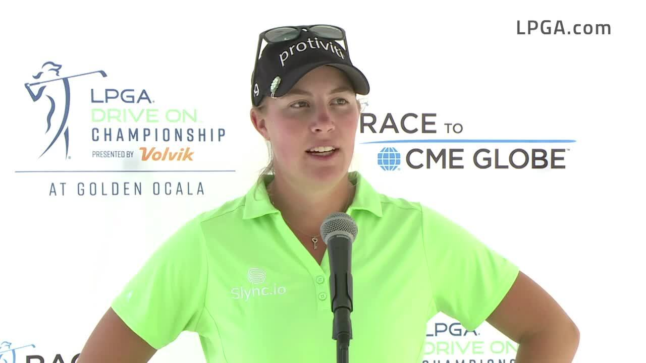 Jennifer Kupcho Opening Round Interview at the 2021 LPGA Drive On Championship presented by Volvik