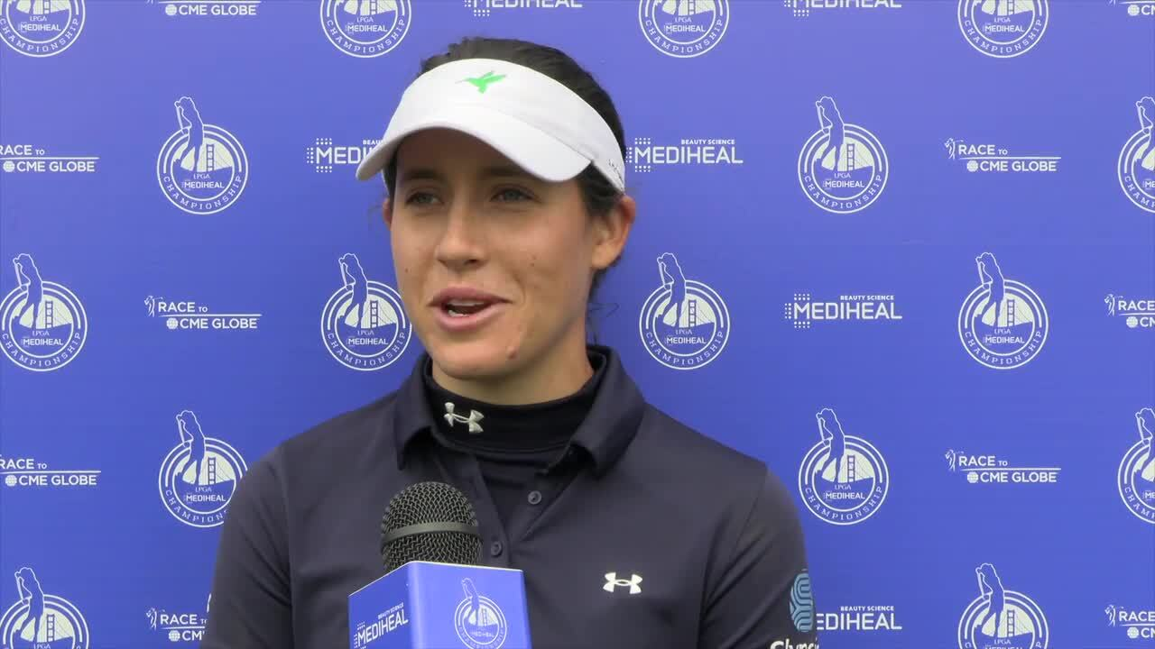 Albane Valenzuela Third Round Interview at the 2021 LPGA MEDIHEAL Championship