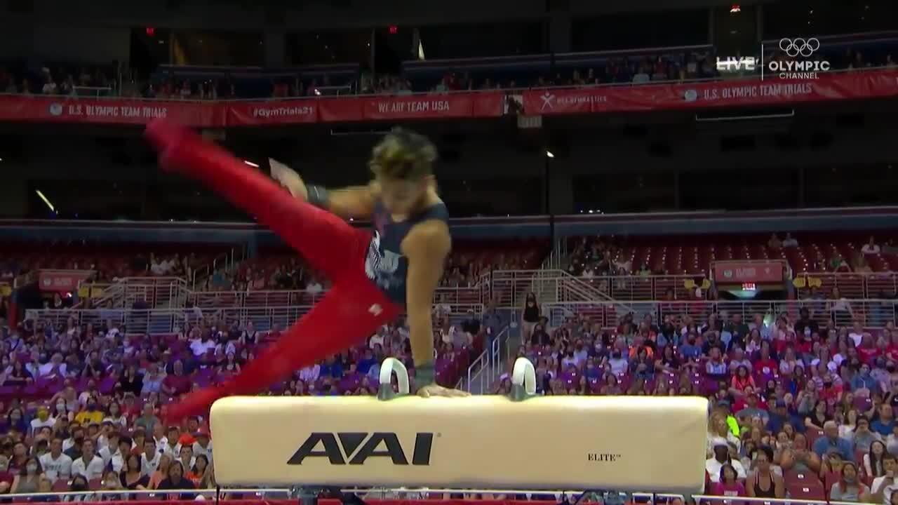 Yul Moldauer Pommel Horse Day 2 | Gymnastics U.S. Olympic Team Trials 2021