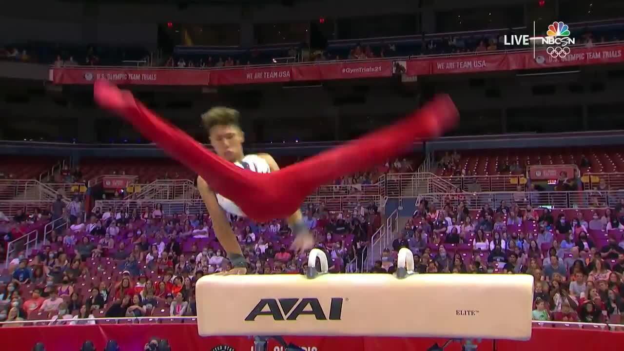 Yul Moldauer Pommel Horse Day 1 | Gymnastics U.S. Olympic Team Trials 2021