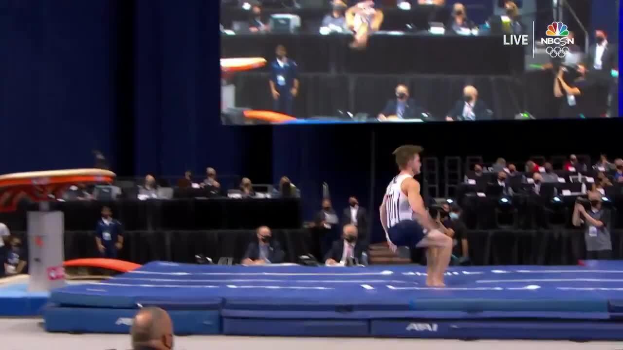 Allan Bower Vault Day 1   Gymnastics U.S. Olympic Team Trials 2021