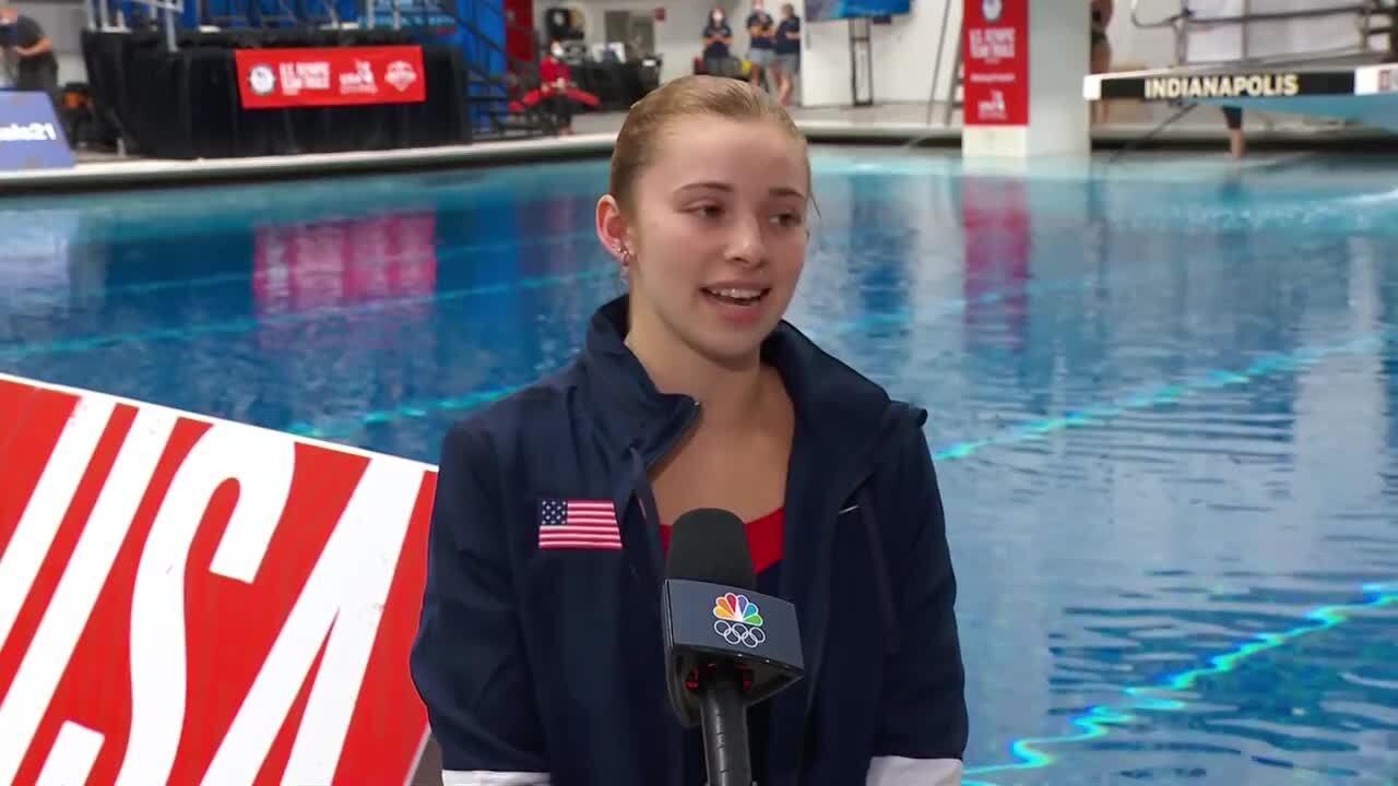 Hailey Hernandez Women's 3-Meter Springboard Interview | Diving U.S. Olympic Team Trials