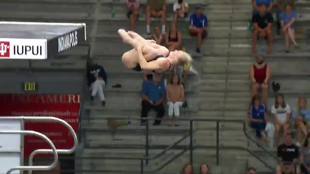 Delaney Schnell Women's 10-Meter Platform Final Dive And Interview   Diving U.S. Olympic Team Trials