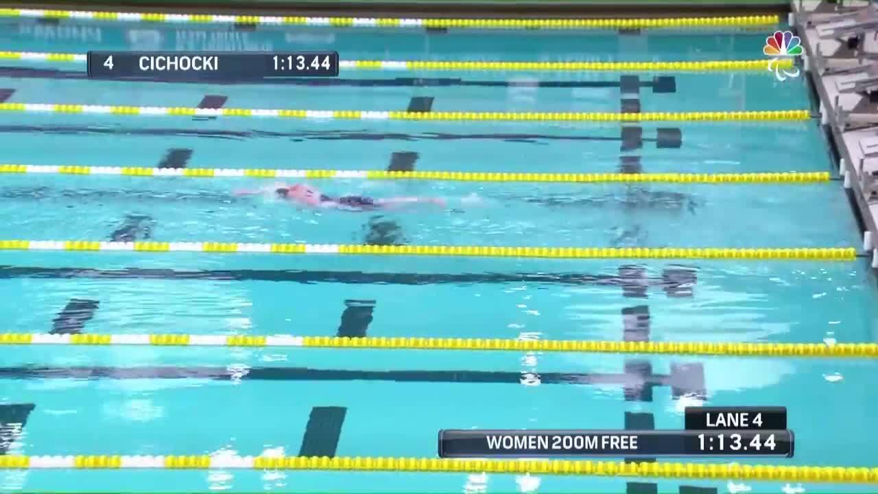 Para Swimming Women's 200-Meter Freestyle S14 Leslie Cichocki | U.S. Paralympic Team Trials 2021