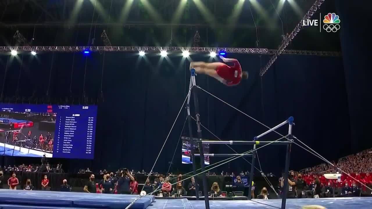 Sunisa Lee Uneven Bars Day 2 | Gymnastics U.S. Olympic Team Trials 2021