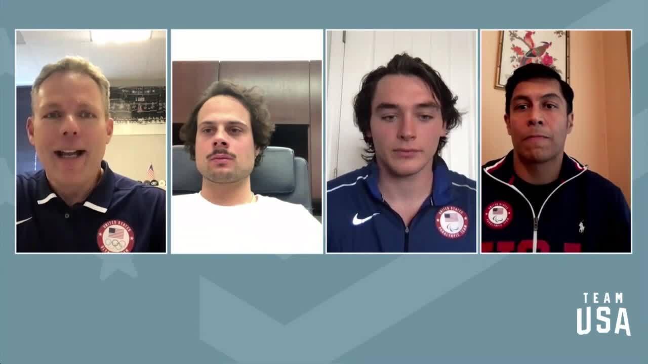 Auston Matthews, Rico Roman, Jack Wallace | Beijing 2022 Team USA Media Summit