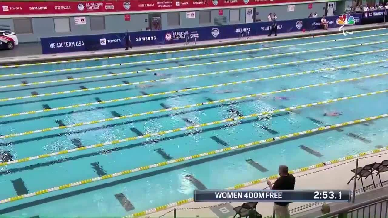 Para Swimming Women's 400-Meter Freestyle S9 Natalie Sims   U.S. Paralympic Team Trials 2021