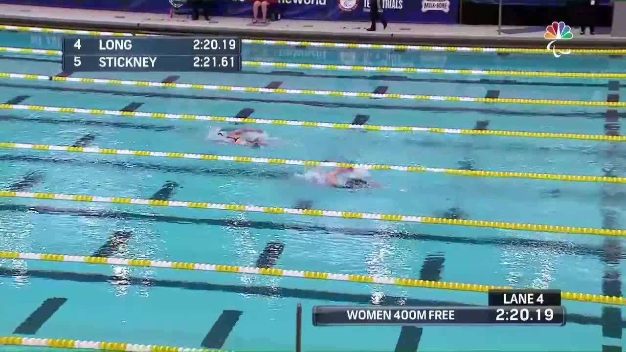 Para Swimming 400-Meter Freestyle S8 Jessica Long | U.S. Paralympic Team Trials 2021