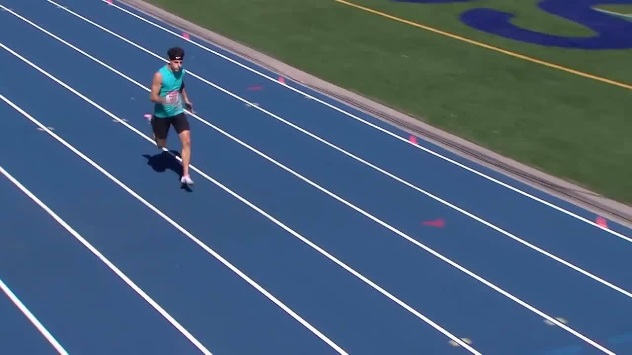 Para Track & Field Nick Mayhugh Breaks An American Record Men's 200-Meter | U.S. Paralympic Team Trials 2021