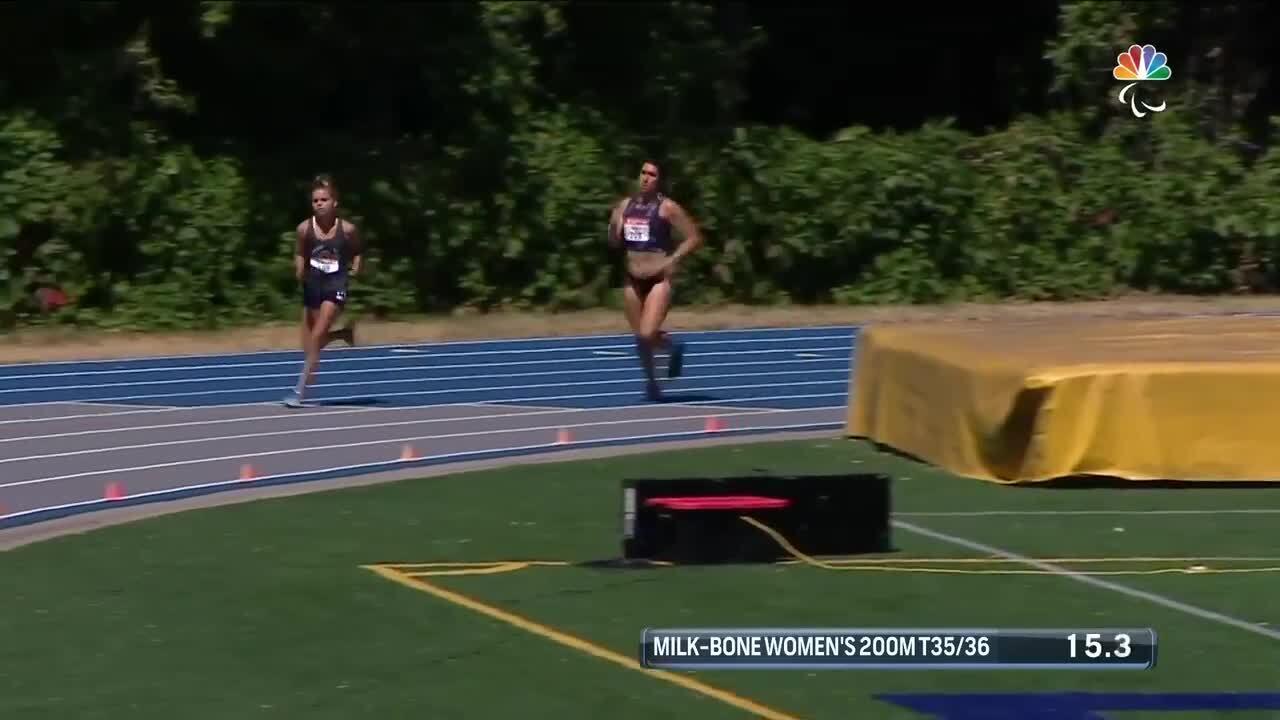 Para Track & Field Women's 200-Meter T35/36 Final | U.S. Paralympic Team Trials 2021
