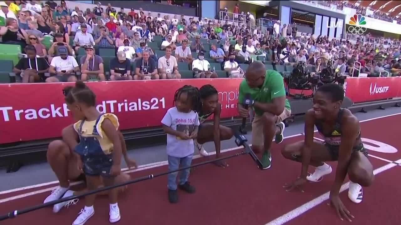 Quanera Hayes Allyson Felix Womens 400M Interview | Track & Field U.S. Olympic Team Trials 2021