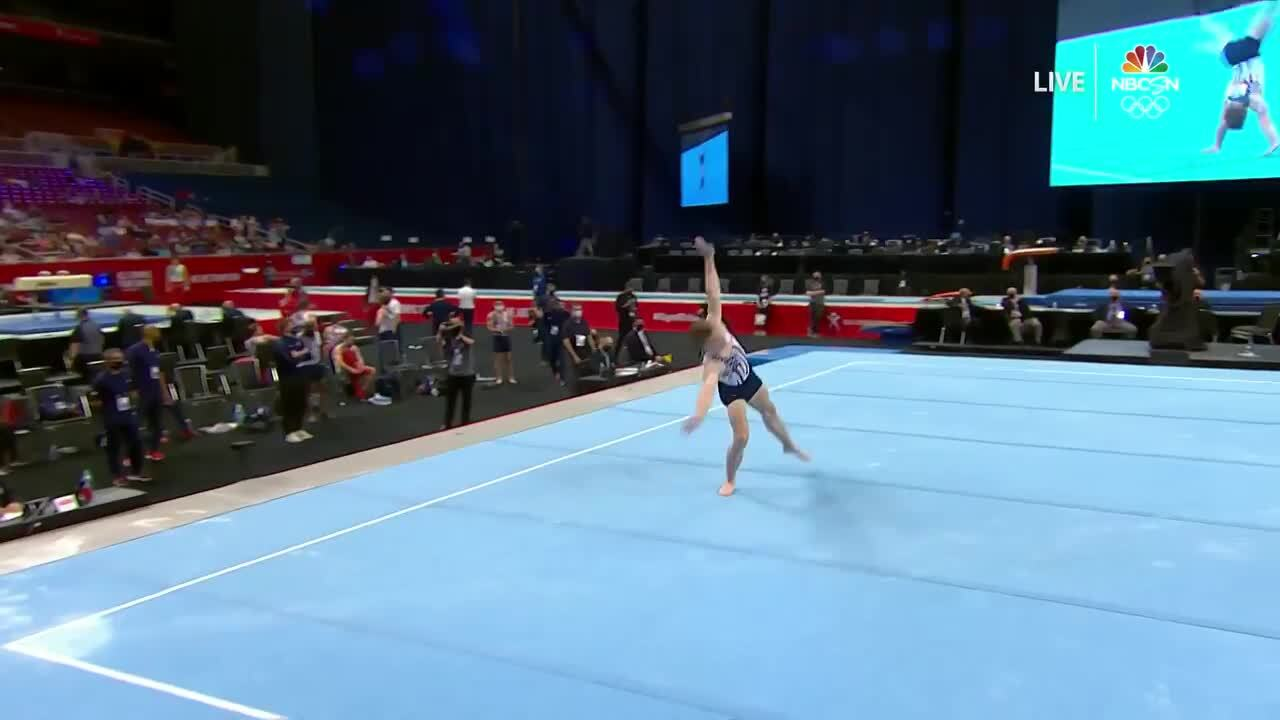 Shane Wiskus Floor Day 1 | Gymnastics U.S. Olympic Team Trials 2021