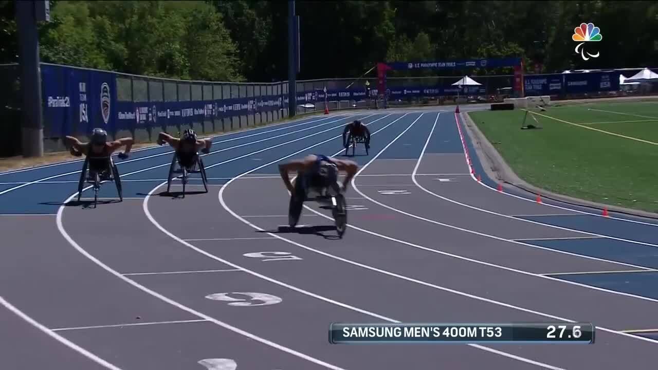 Para Track & Field Men's 400-Meter T53 Final | U.S. Paralympic Team Trials 2021
