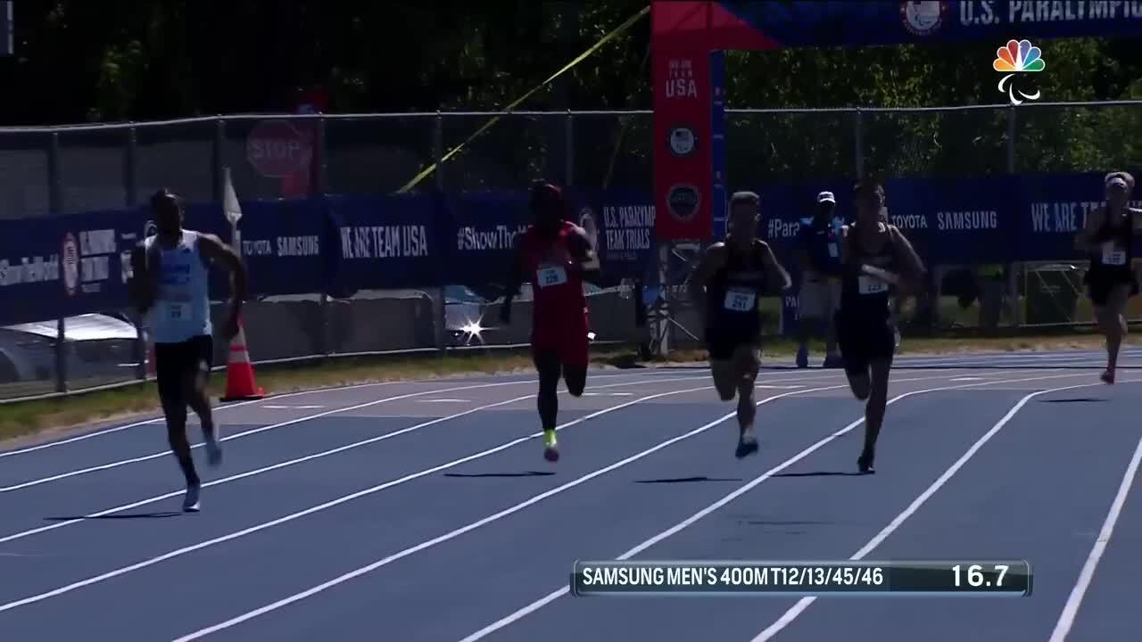 Para Track & Field Men's 400-Meter T12/13/45/46 Final | U.S. Paralympic Team Trials 2021