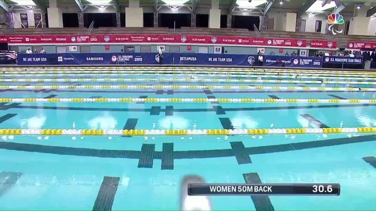Para Swimming Women's 50-Meter Backstroke S1-S5 | U.S. Paralympic Team Trials 2021