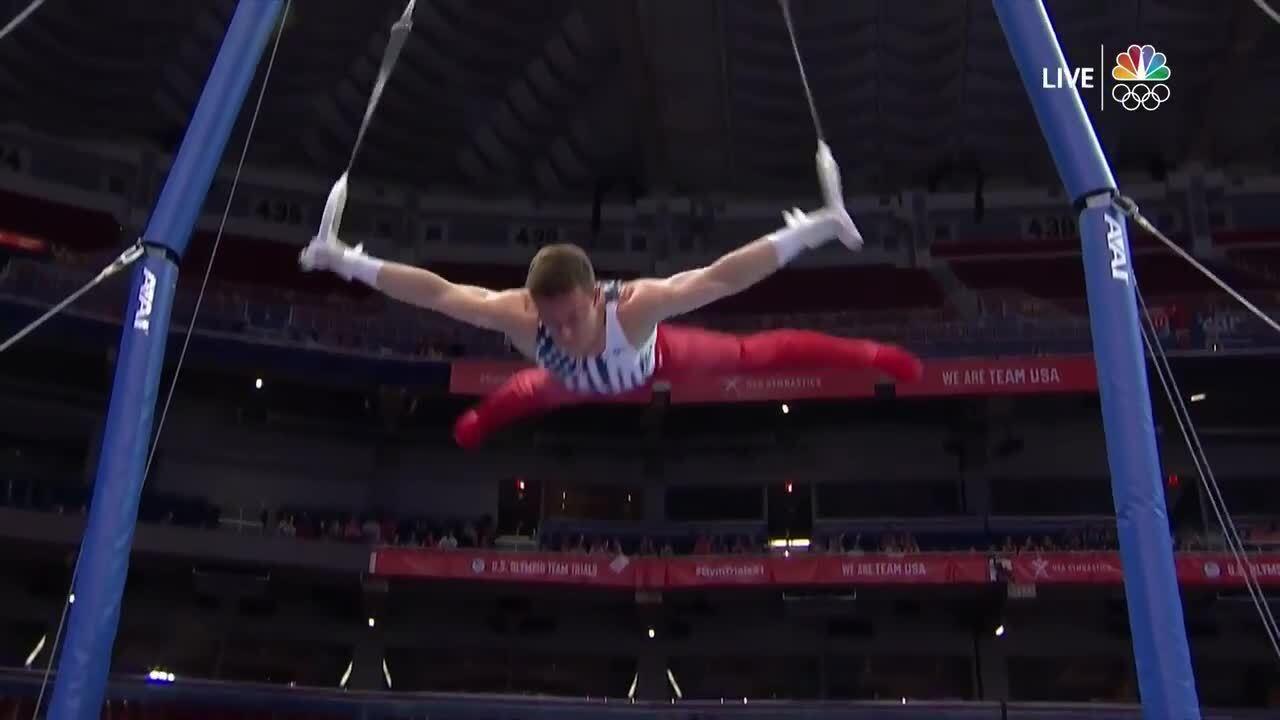 Brody Malone Rings Day 2 | Gymnastics U.S. Olympic Team Trials 2021