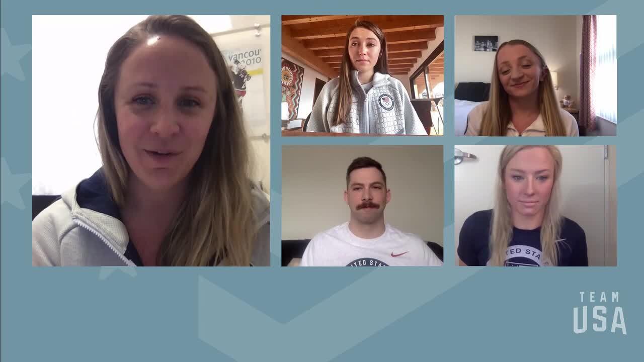 Kate Courtney, McKenzie Coan, Evan Austin, Jessica Long   Tokyo 2020 Team USA Virtual Media Summit