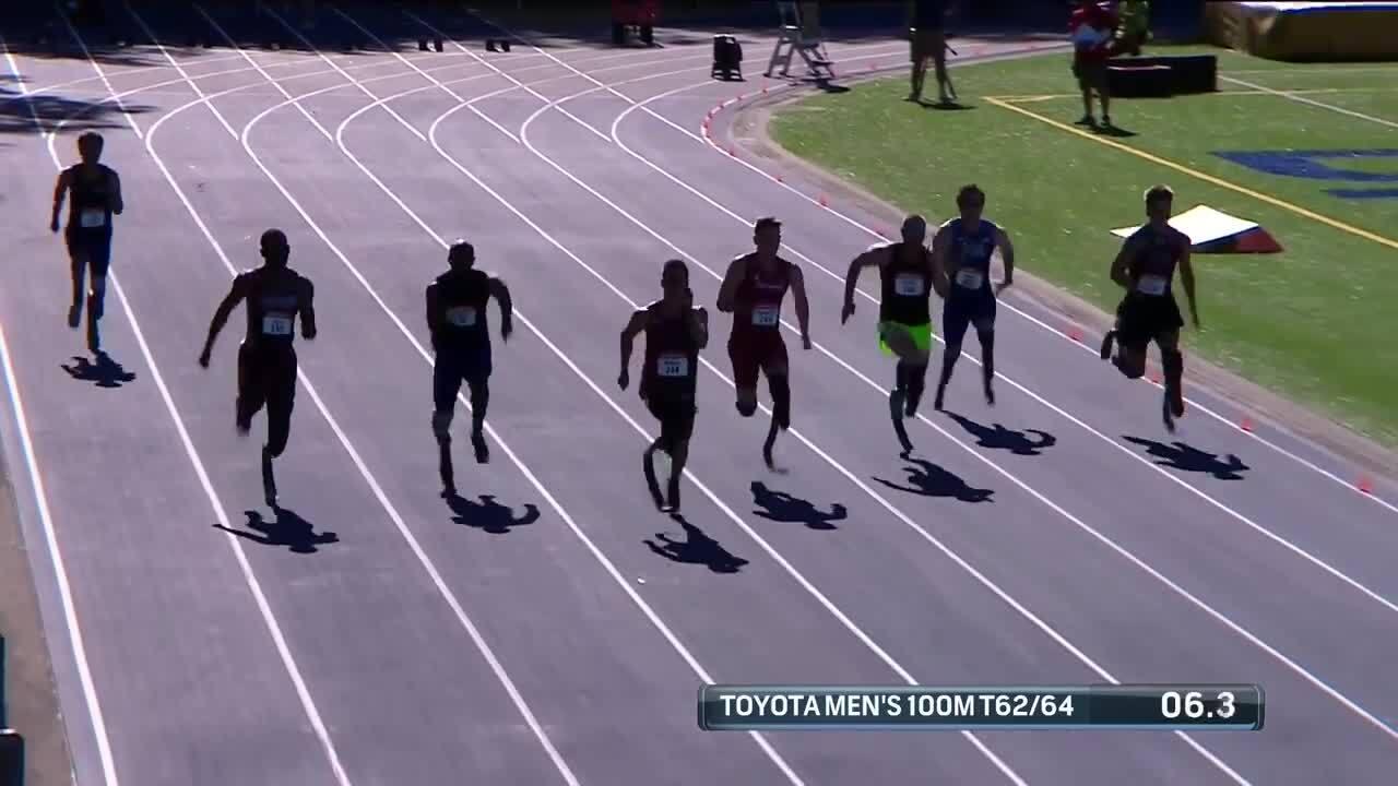 Para Track & Field Men's 100-Meter T62/64   U.S. Paralympic Team Trials 2021