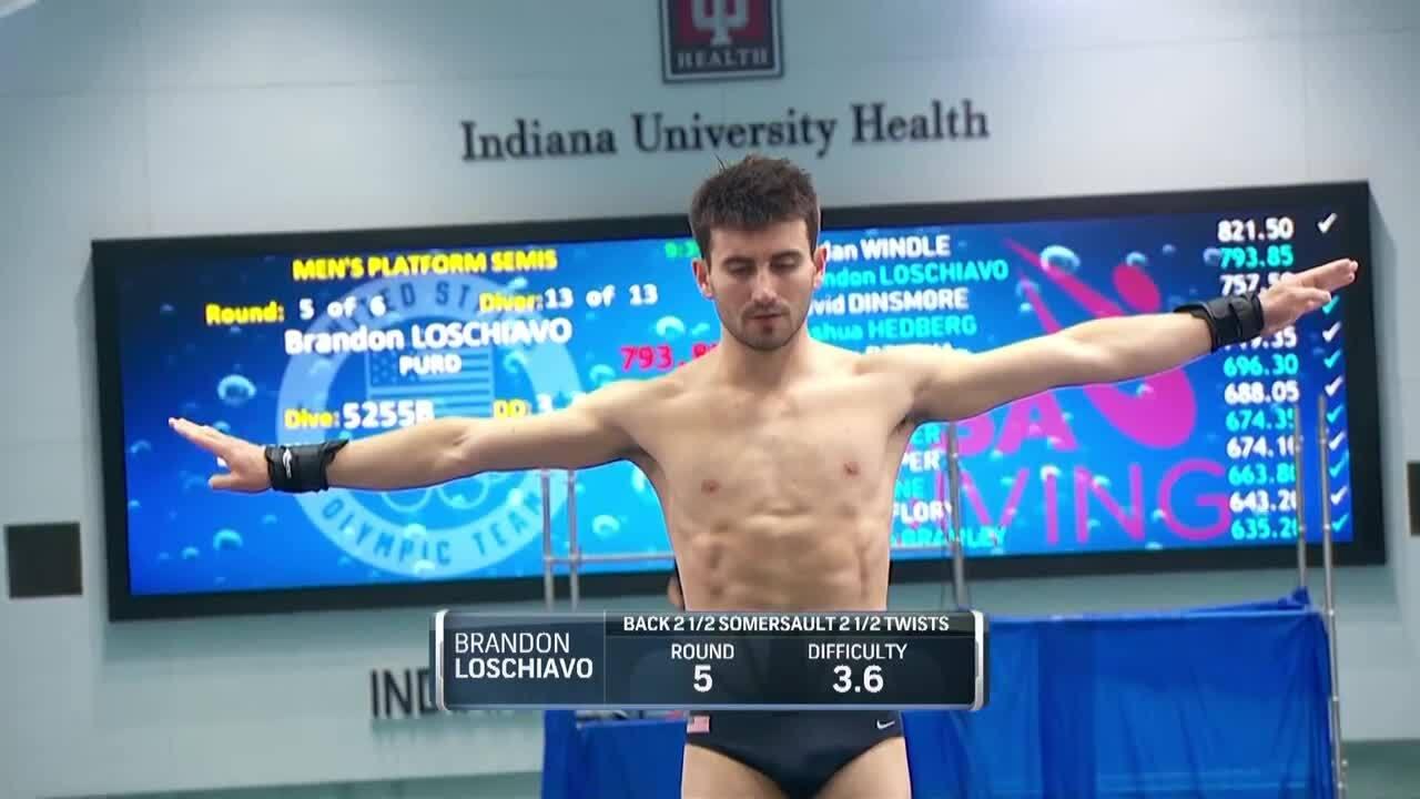 Brandon Loschiavo Men's 10-Meter Platform Semifinals | Diving U.S. Olympic Team Trials 2021