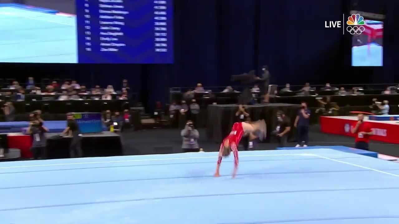 MyKayla Skinner Floor Routine Day 1 | Gymnastics U.S. Olympic Team Trials 2021
