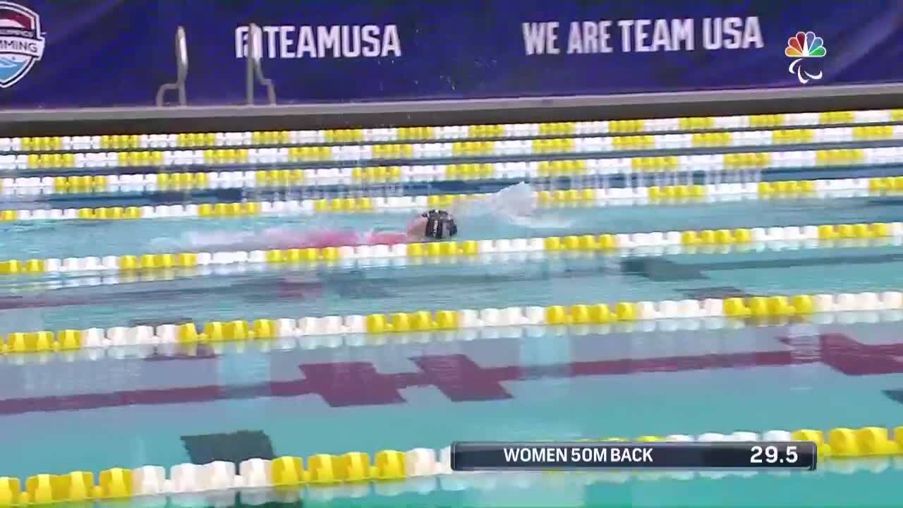 Para Swimming Women's 50-Meter Backstroke S3 Leanne Smith   U.S. Paralympic Team Trials 2021