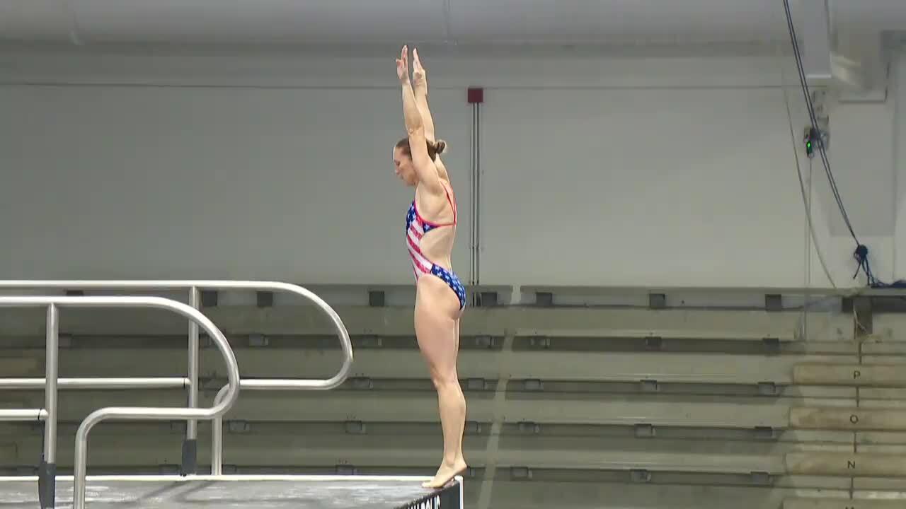 Laura Wilkinson Dive #1 - 10-Meter Platform Semifinals | Diving U.S. Olympic Team Trials 2021