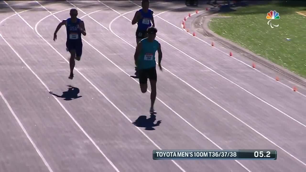 Para Track & Field Men's 100-Meter T36/37/38    U.S. Paralympic Team Trials 2021