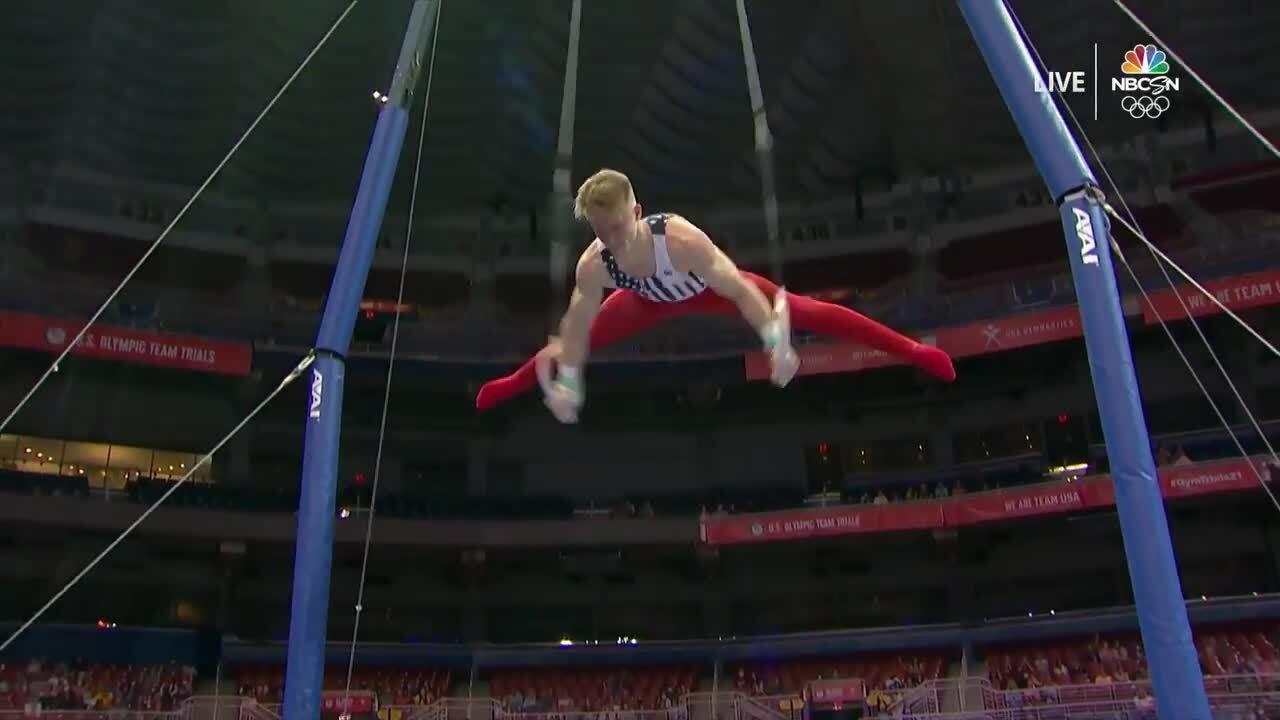 Shane Wiskus Rings Day 1   Gymnastics U.S. Olympic Team Trials 2021
