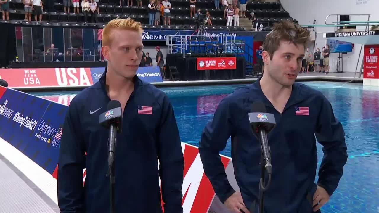 Andrew Capobianco & Michael Hixon Interview | Diving U.S. Olympic Team Trials