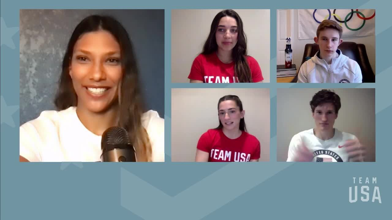 Brooke Raboutou, Collin Duffy, Nathaniel Coleman, Kyra Condie   Tokyo 2020 Team USA Virtual Media Summit