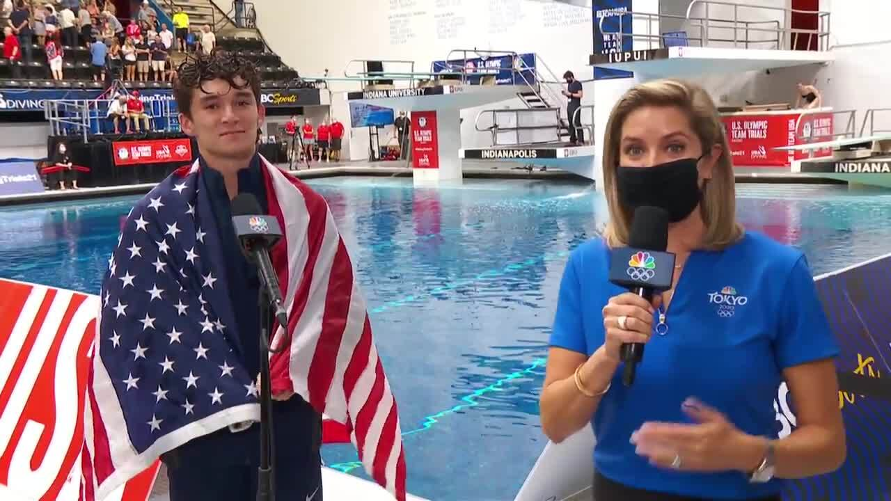 Tyler Downs Men's 3-Meter Springboard Final Dive And Interview | Diving U.S. Olympic Team Trials