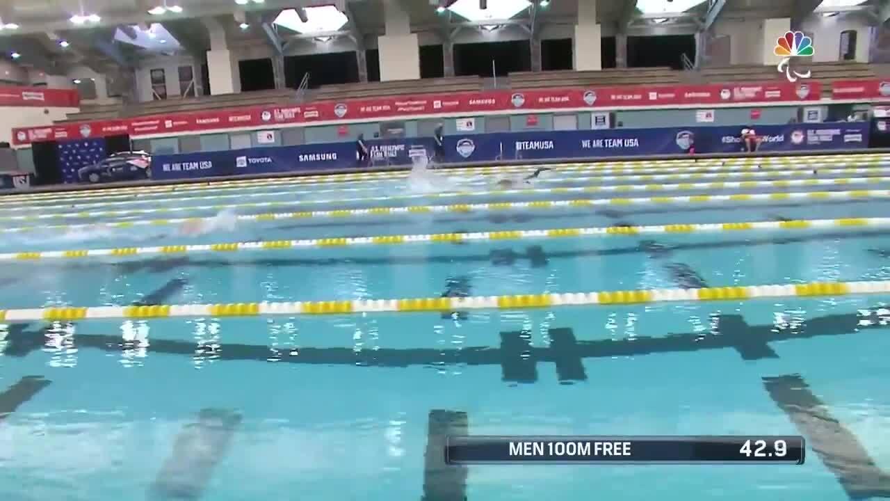 Para Swimming Men's 100-Meter Freestyle S10 Yaseen El-Demerdash | U.S. Paralympic Team Trials 2021
