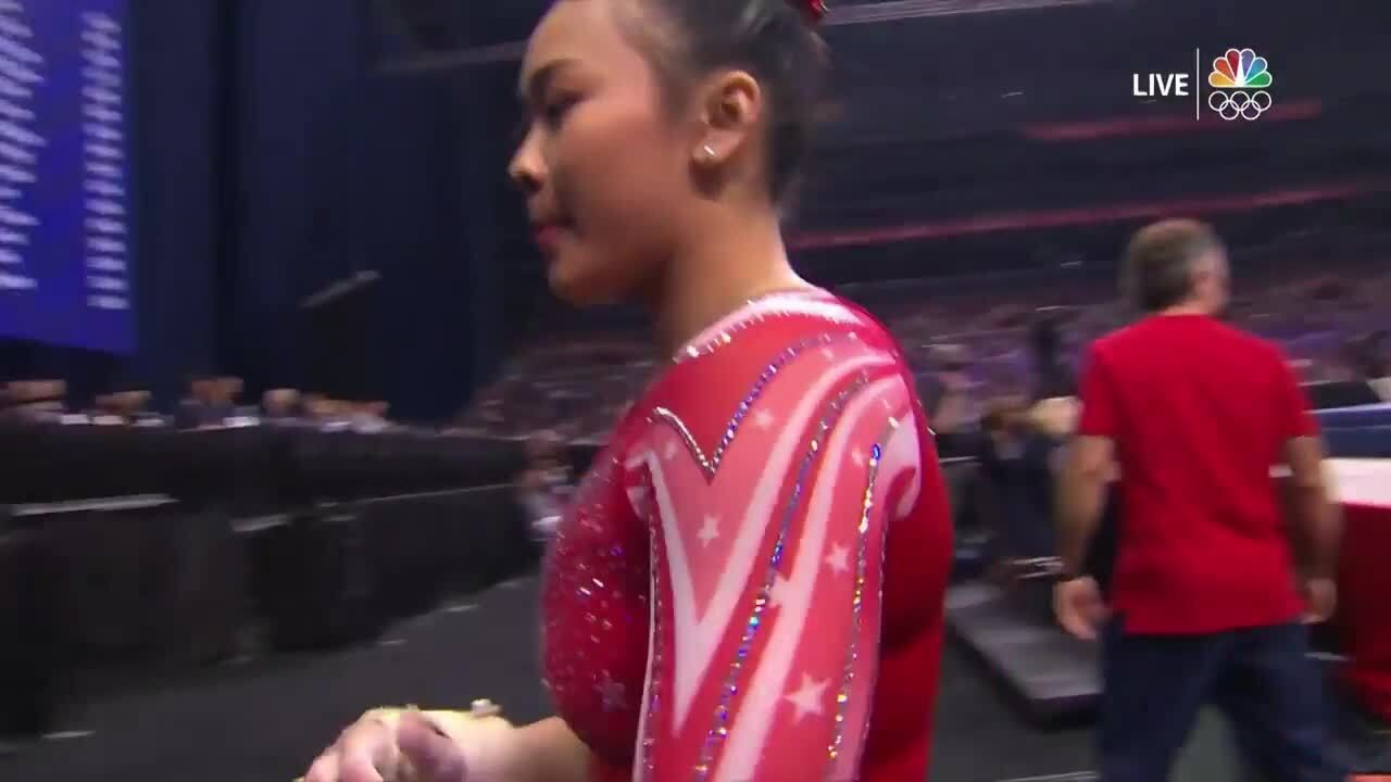Sunisa Lee Vault Day 2 | Gymnastics U.S. Olympic Team Trials 2021